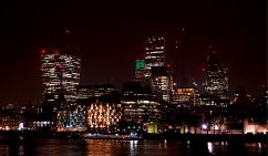 Central London Skyline at Night
