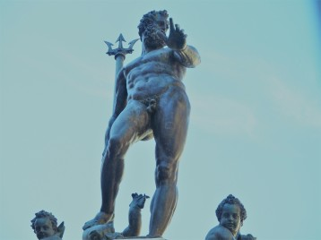 Controversial Sea God Statue of Neptune.The trident logo of Maserati, the luxury sports car company founded in Bologna in 1914, is based on the trident of Neptune.